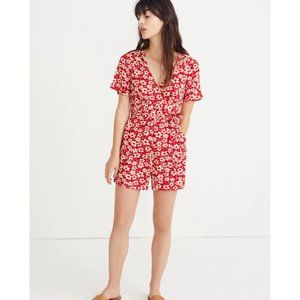 Madewell Wrap-Front Romper in Mini Daisy 0